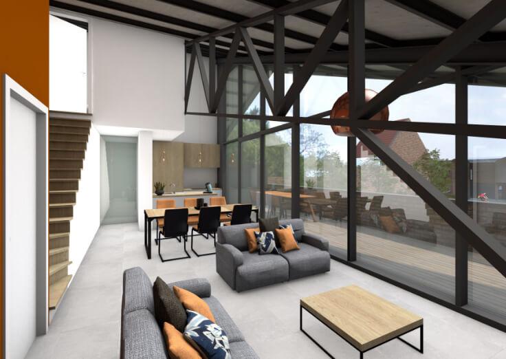 Oude vlasschuur wordt uniek wooncomplex dankzij aannemersbedrijf Detrac